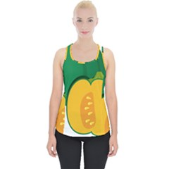 Pumpkin Peppers Green Yellow Piece Up Tank Top
