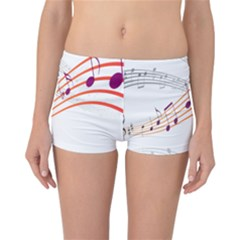 Musical Net Purpel Orange Note Reversible Boyleg Bikini Bottoms