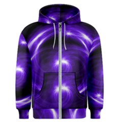 Purple Black Star Neon Light Space Galaxy Men s Zipper Hoodie