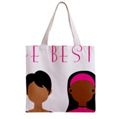 Black Girls Be The Best You Zipper Grocery Tote Bag