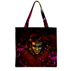 Wonderful Venetian Mask With Floral Elements Grocery Tote Bag