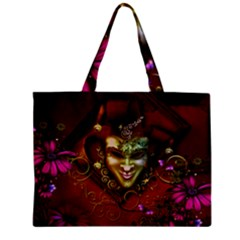Wonderful Venetian Mask With Floral Elements Mini Tote Bag