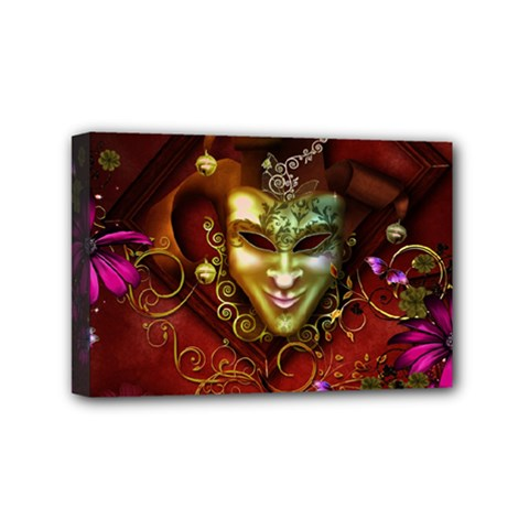 Wonderful Venetian Mask With Floral Elements Mini Canvas 6  X 4
