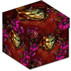 Wonderful Venetian Mask With Floral Elements Storage Stool 12