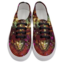 Wonderful Venetian Mask With Floral Elements Women s Classic Low Top Sneakers
