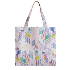 Layer Capital City Building Zipper Grocery Tote Bag