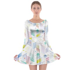 Layer Capital City Building Long Sleeve Skater Dress
