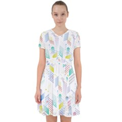 Layer Capital City Building Adorable In Chiffon Dress