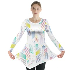 Layer Capital City Building Long Sleeve Tunic