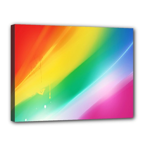 Red Yellow White Pink Green Blue Rainbow Color Mix Canvas 16  X 12