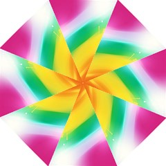 Red Yellow White Pink Green Blue Rainbow Color Mix Folding Umbrellas