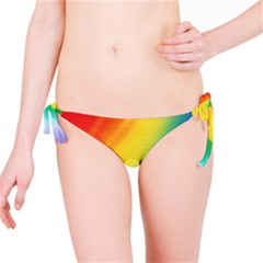 Red Yellow White Pink Green Blue Rainbow Color Mix Bikini Bottom