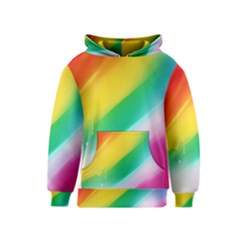 Red Yellow White Pink Green Blue Rainbow Color Mix Kids  Pullover Hoodie