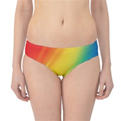 Red Yellow White Pink Green Blue Rainbow Color Mix Hipster Bikini Bottoms