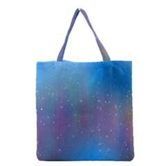 Rain Star Planet Galaxy Blue Sky Purple Blue Grocery Tote Bag