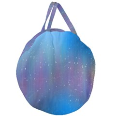 Rain Star Planet Galaxy Blue Sky Purple Blue Giant Round Zipper Tote