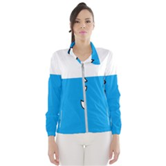 Ship Sea Beack Sun Blue Sky White Water Wind Breaker (women)
