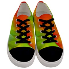 Red Yellow Green Blue Rainbow Color Mix Men s Low Top Canvas Sneakers