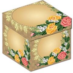 Rose Sunflower Star Floral Flower Frame Green Leaf Storage Stool 12
