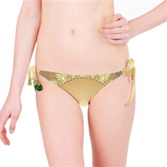 Rose Sunflower Star Floral Flower Frame Green Leaf Bikini Bottom