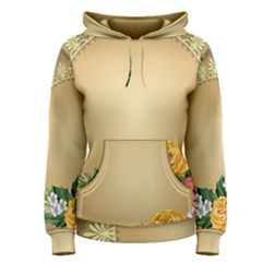 Rose Sunflower Star Floral Flower Frame Green Leaf Women s Pullover Hoodie