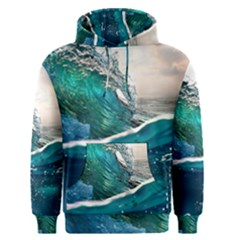Sea Wave Waves Beach Water Blue Sky Men s Pullover Hoodie