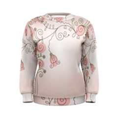 Simple Flower Polka Dots Pink Women s Sweatshirt
