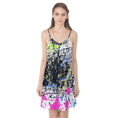 Spot Paint Pink Black Green Yellow Blue Sexy Camis Nightgown