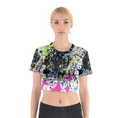 Spot Paint Pink Black Green Yellow Blue Sexy Cotton Crop Top