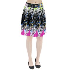 Spot Paint Pink Black Green Yellow Blue Sexy Pleated Skirt