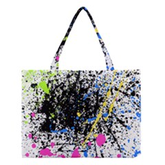 Spot Paint Pink Black Green Yellow Blue Sexy Medium Tote Bag
