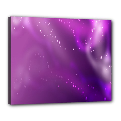 Space Star Planet Galaxy Purple Canvas 20  X 16