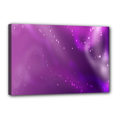 Space Star Planet Galaxy Purple Canvas 18  X 12