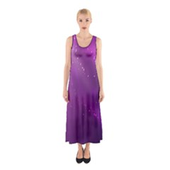 Space Star Planet Galaxy Purple Sleeveless Maxi Dress