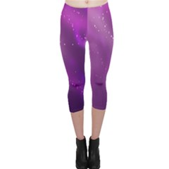 Space Star Planet Galaxy Purple Capri Leggings