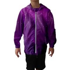 Space Star Planet Galaxy Purple Hooded Wind Breaker (kids)