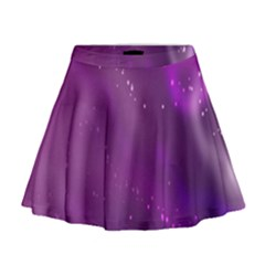 Space Star Planet Galaxy Purple Mini Flare Skirt