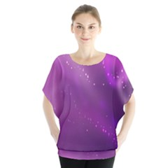Space Star Planet Galaxy Purple Blouse
