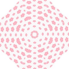 Star Pink Flower Polka Dots Straight Umbrellas