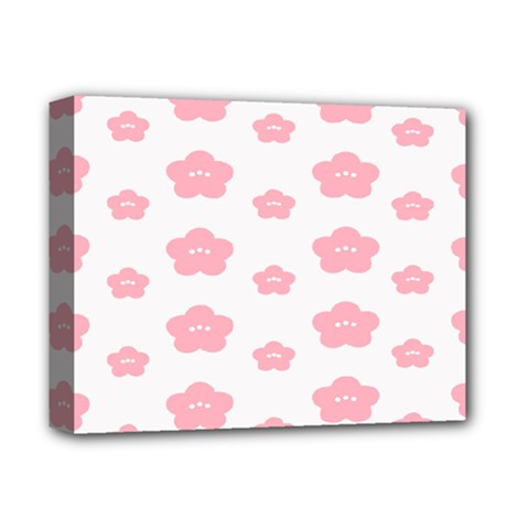 Star Pink Flower Polka Dots Deluxe Canvas 14  X 11