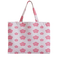 Star Pink Flower Polka Dots Zipper Mini Tote Bag