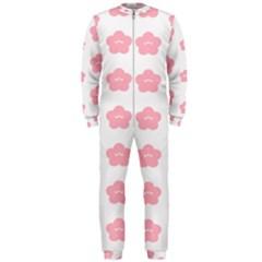 Star Pink Flower Polka Dots Onepiece Jumpsuit (men)