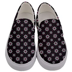 Sunflower Star Floral Purple Pink Men s Canvas Slip Ons
