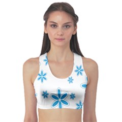 Star Flower Blue Sports Bra