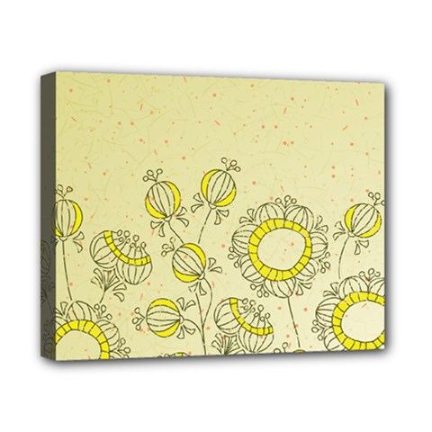 Sunflower Fly Flower Floral Canvas 10  X 8