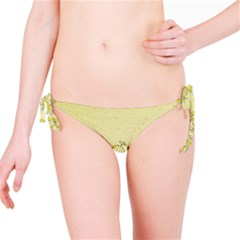 Sunflower Fly Flower Floral Bikini Bottom