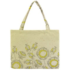 Sunflower Fly Flower Floral Mini Tote Bag