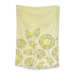 Sunflower Fly Flower Floral Small Tapestry