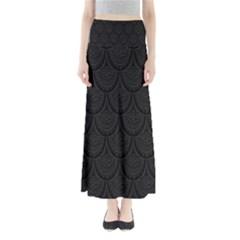 Skin Abstract Wallpaper Dump Black Flower  Wave Chevron Full Length Maxi Skirt