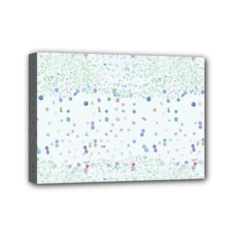 Spot Polka Dots Blue Pink Sexy Mini Canvas 7  X 5